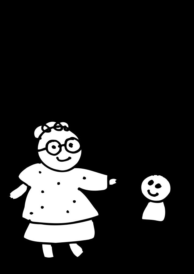Mom holding childs hand.