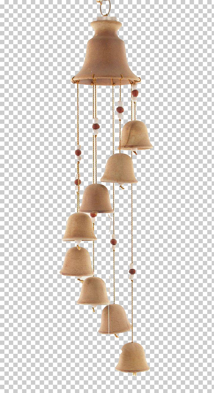 Wind chime Ceramic Bell Clay, Simple ceramic wind chimes.