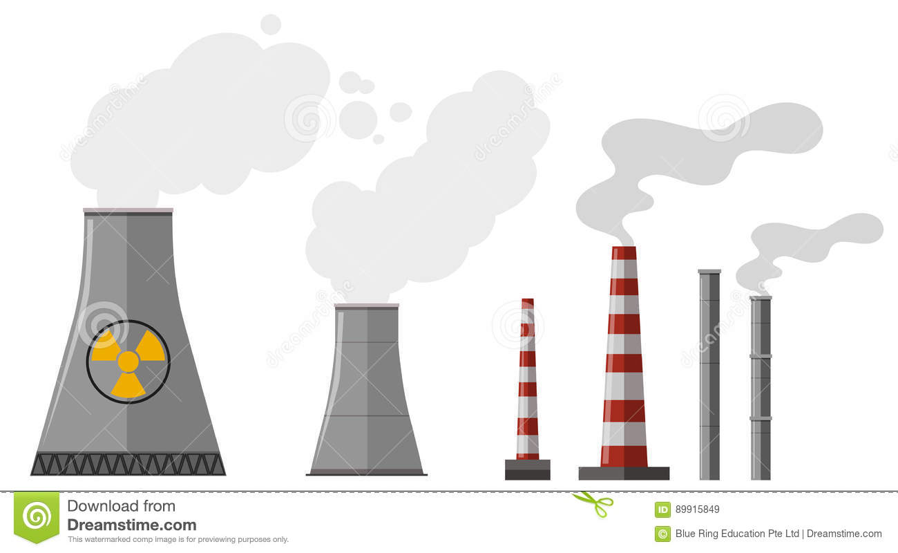 Different types of chimney stock vector. Illustration of clipart.