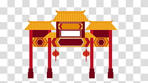 Chinatown transparent background PNG cliparts free download.