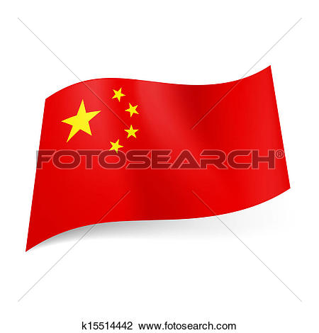 Clipart of State flag of China. k15514442.