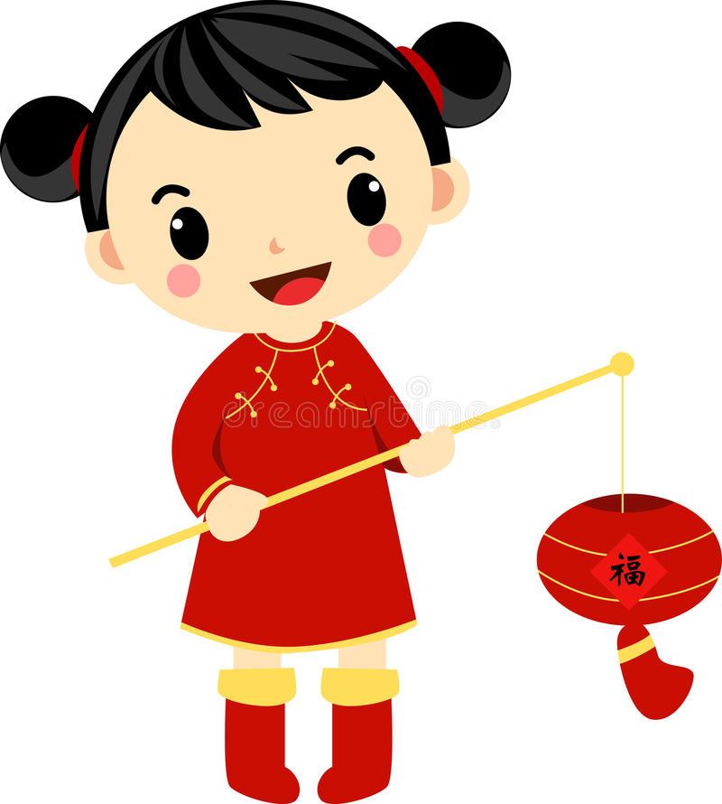 Chinese Girl Stock Illustrations.