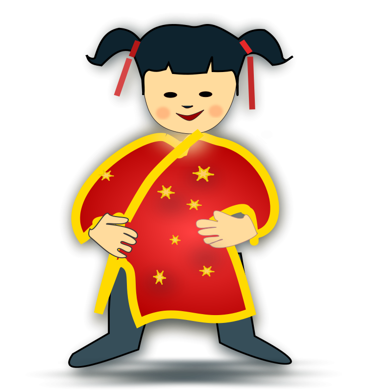 Free Clipart: Chinese girl icon.