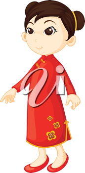 Royalty Free Clipart Image of a Chinese Girl #530871.