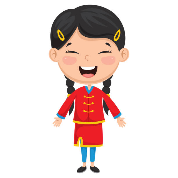 Best Chinese Girl Illustrations, Royalty.