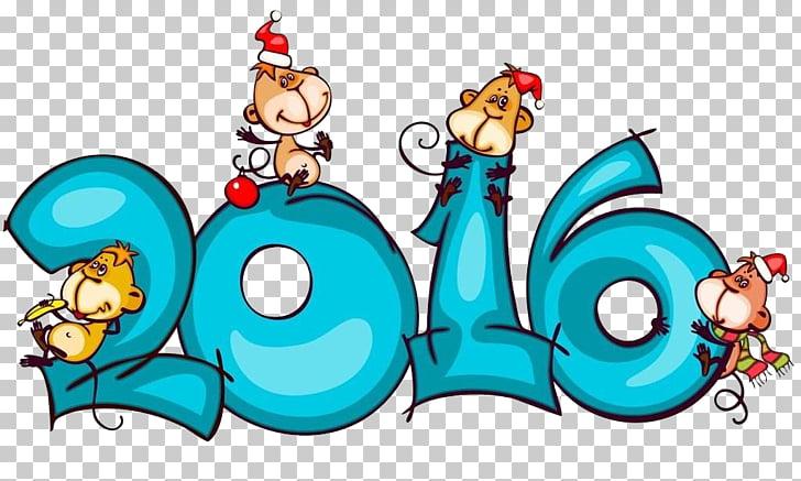 Monkey Chinese New Year Chinese zodiac Illustration, 2016.