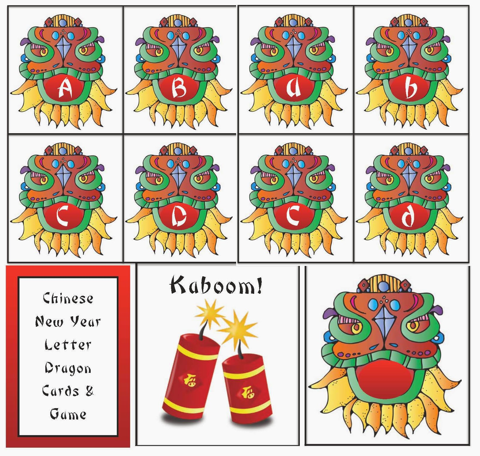 Classroom Freebies: Chinese New Year Animal Card Games.