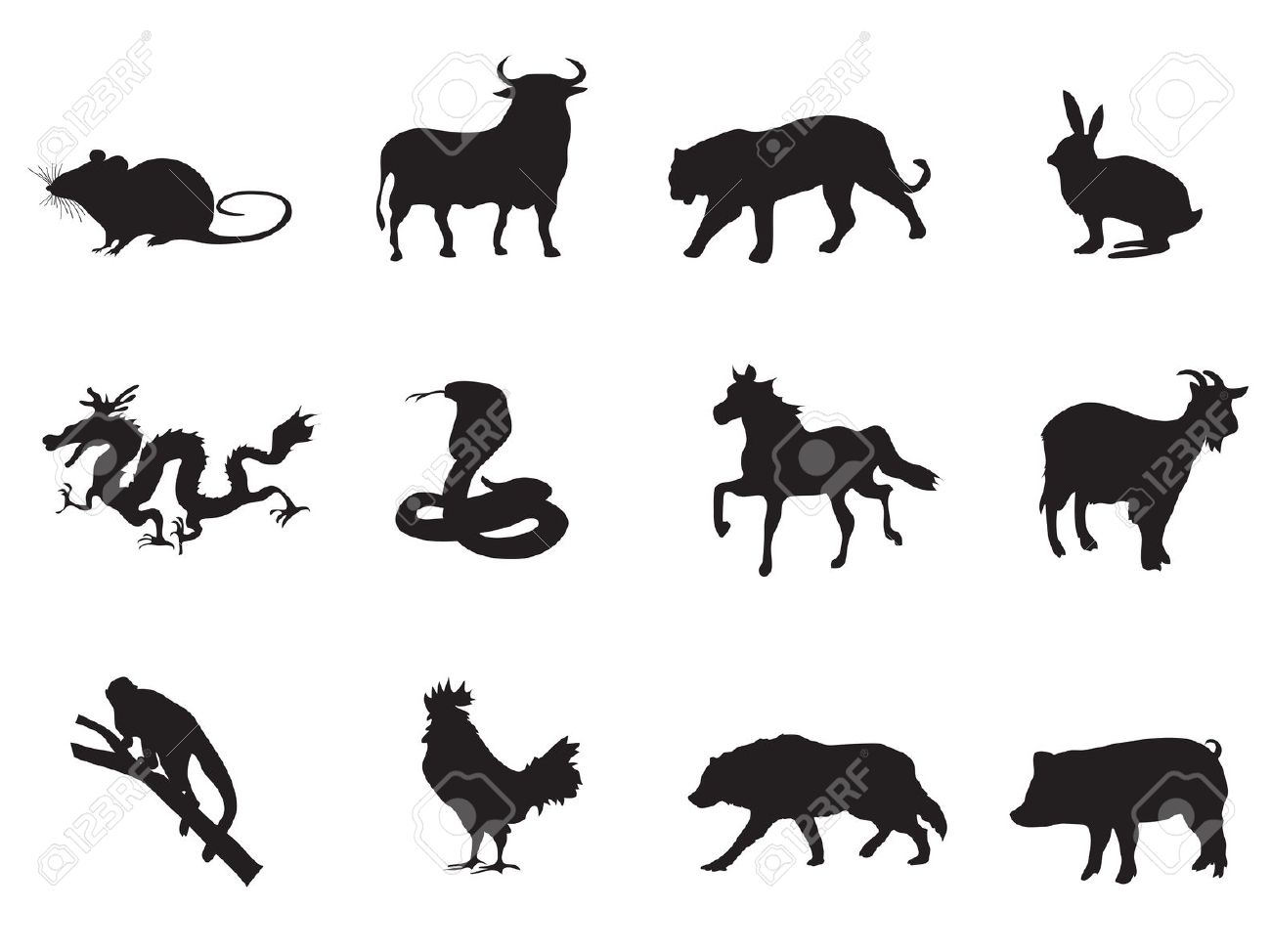 clipart chinese new year animals 20 free Cliparts ...