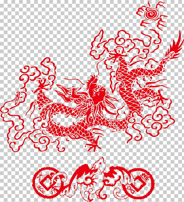 China Chinese dragon Chinese New Year , New Year Dragon material PNG.