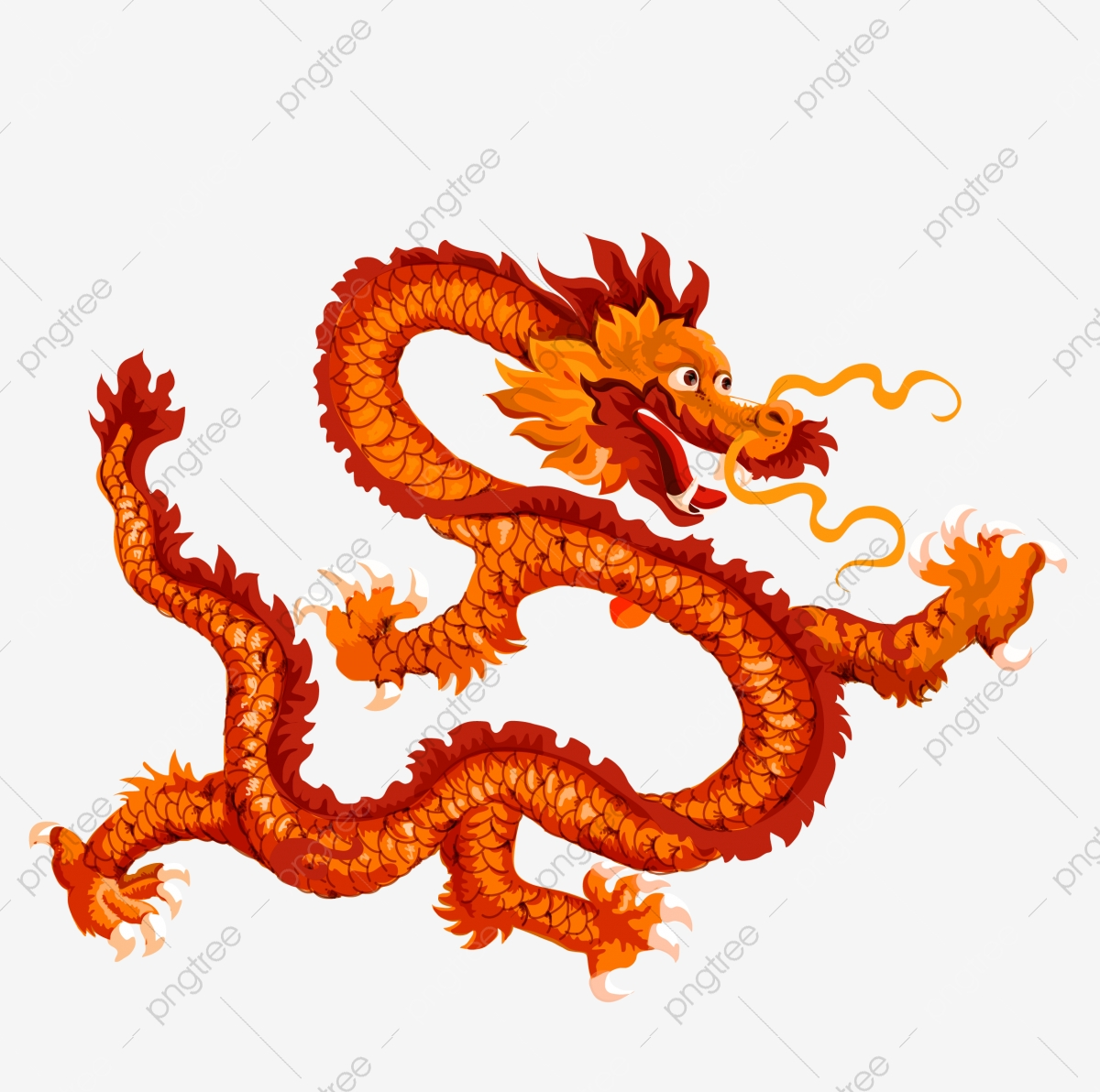 New Spring New Year Dragon Chinese Beast, Ancient Mythical Beast.