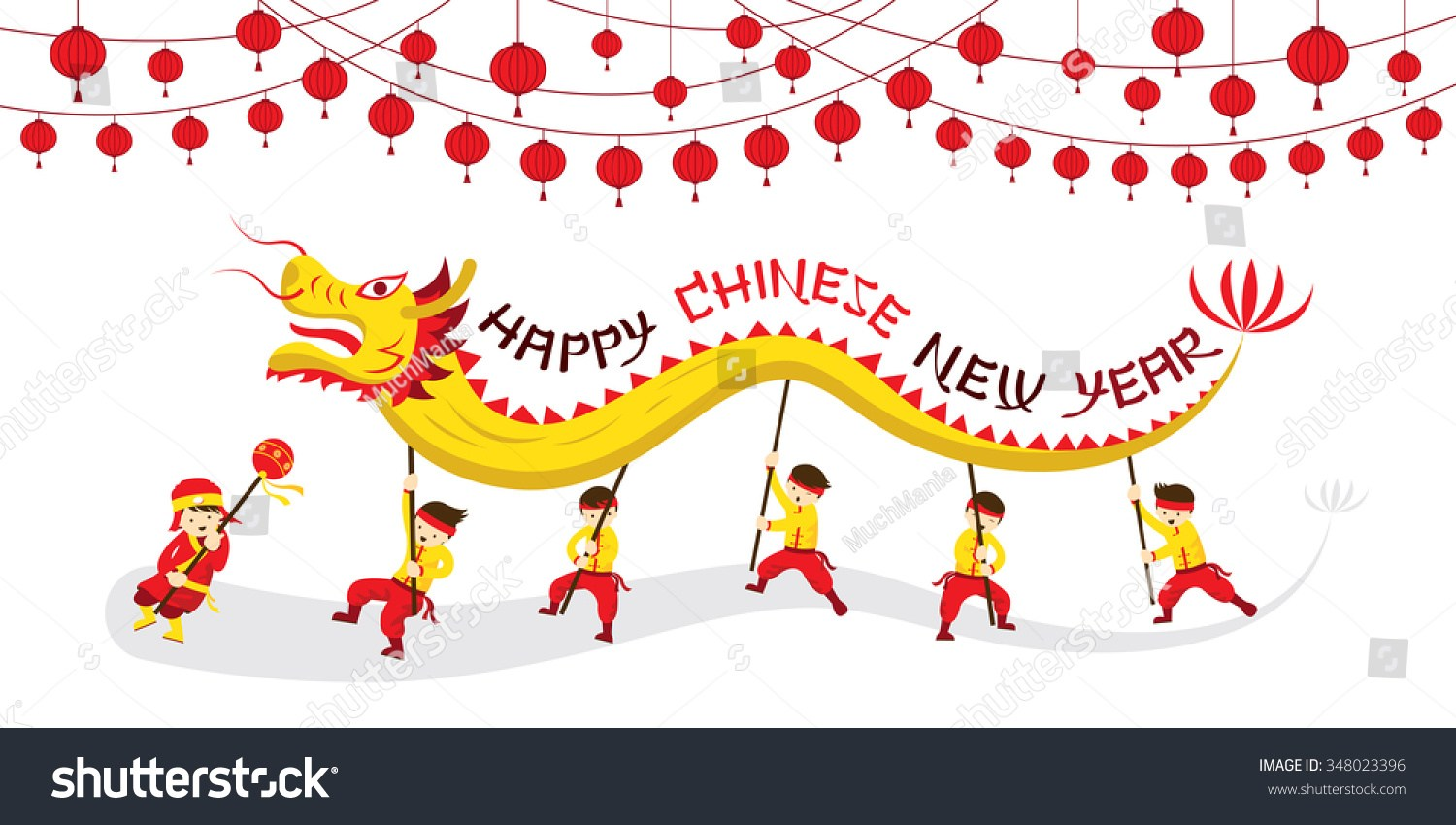 Chinese New Year Dragon Dancer Coloring Page.