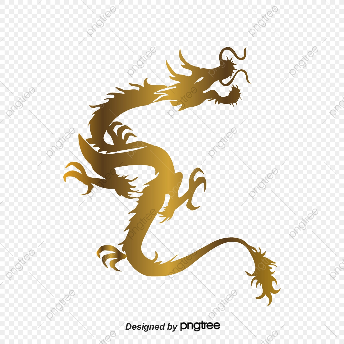 Chinese New Year Dragon Pattern, Color, Bright, Joyous PNG.