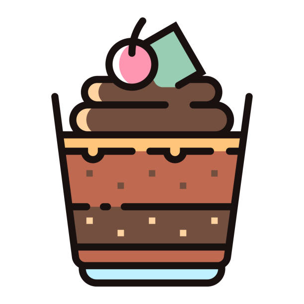 Best Chocolate Pudding Illustrations, Royalty.