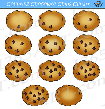 Counting Chocolate Chips Cookies Clipart.