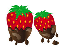Chocolate Covered Strawberries Stock Illustrations.