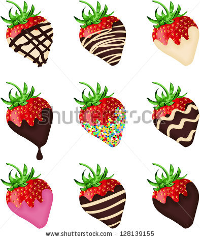 Chocolate Covered Strawberries Stock Images, Royalty.