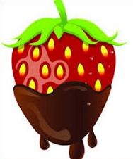 Free Chocolate Covered Strawberry Clipart.