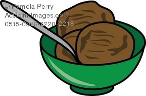 Bowl of Chocolate Ice Cream Royalty.