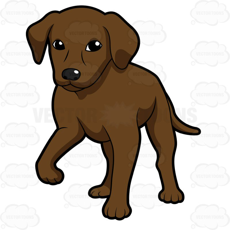 Chocolate lab clipart 5 » Clipart Station.