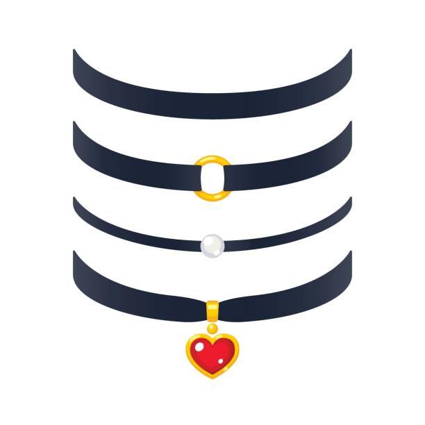 Choker Necklace Clipart.