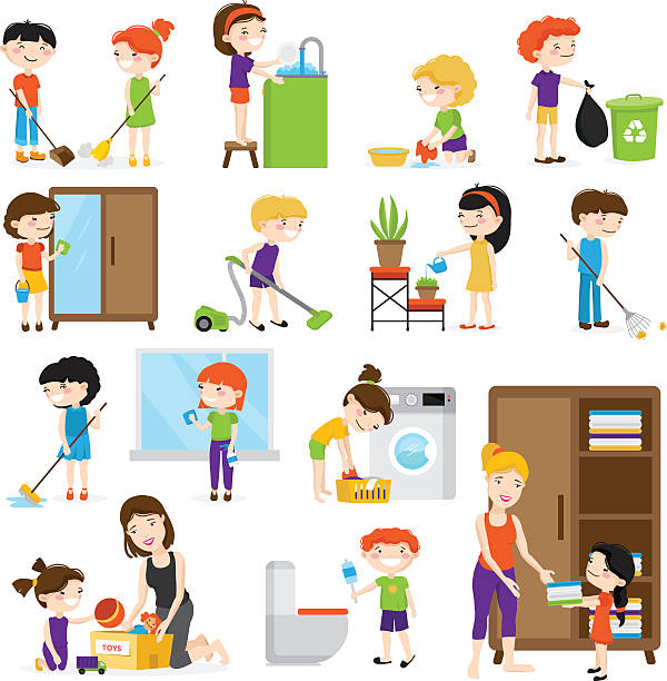 Family doing household chores clipart 1 » Clipart Station.