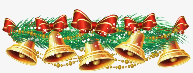 Graphic Transparent Stock Free Christmas Bell Clipart.