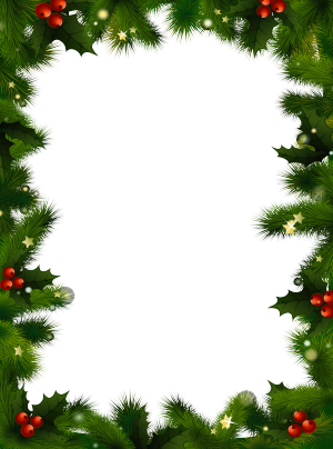 Christmas borders transparent christmas photo frame with pine and.