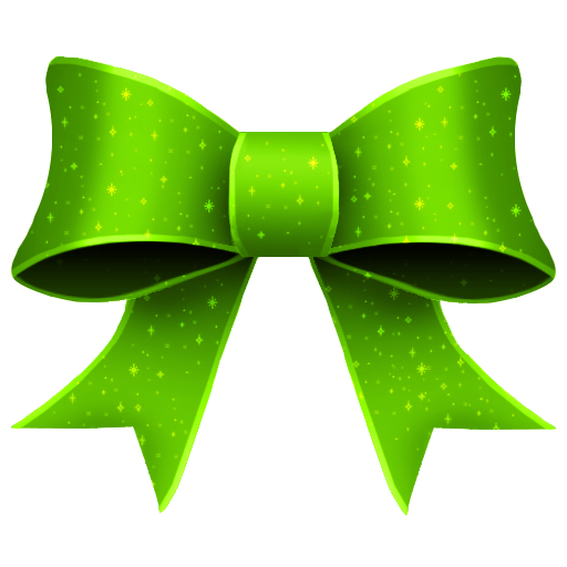 GREEN CHRISTMAS BOW CLIPART.