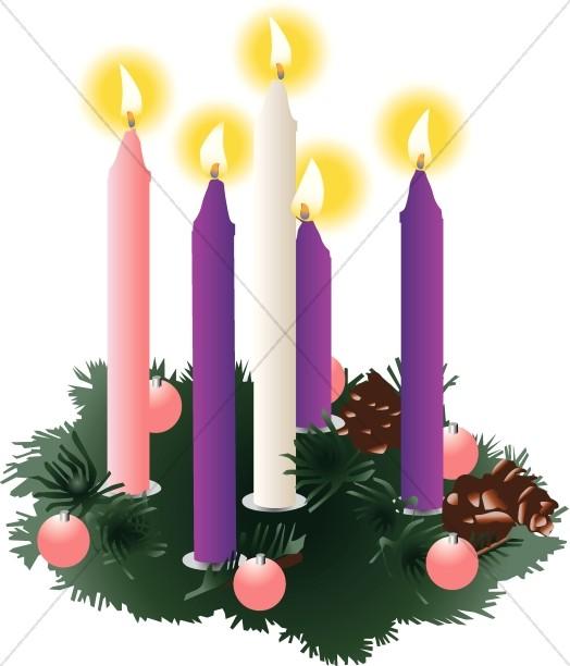 Christmas Clipart Christmas Candles.