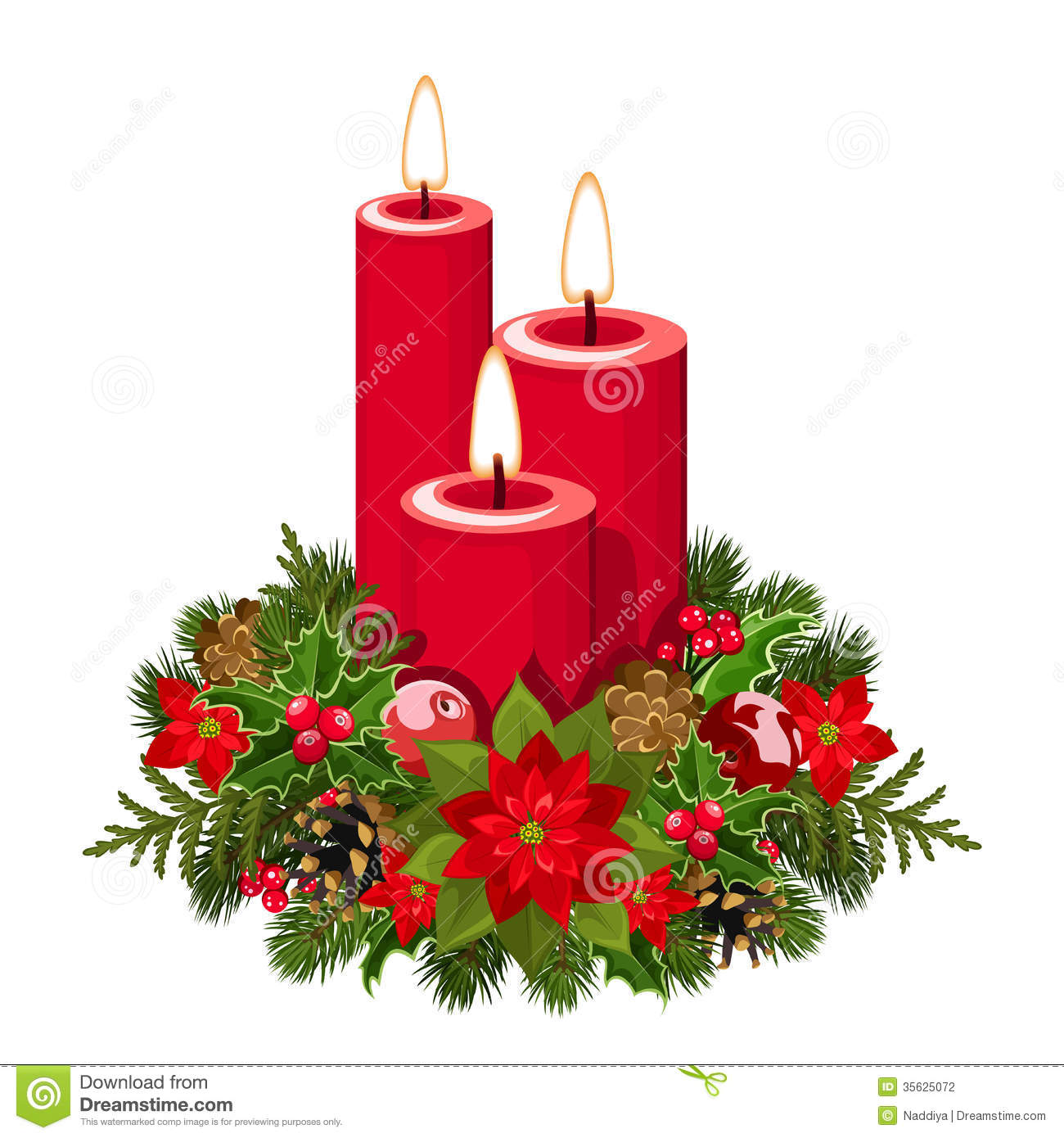 Clipart Candles Christmas.