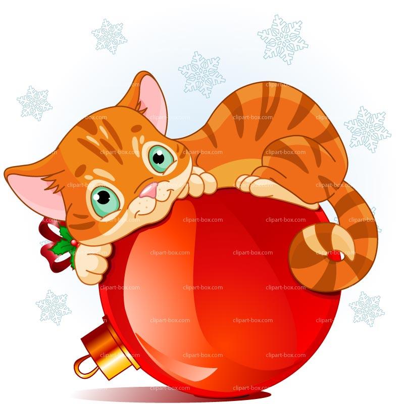 CLIPART CHRISTMAS CAT.
