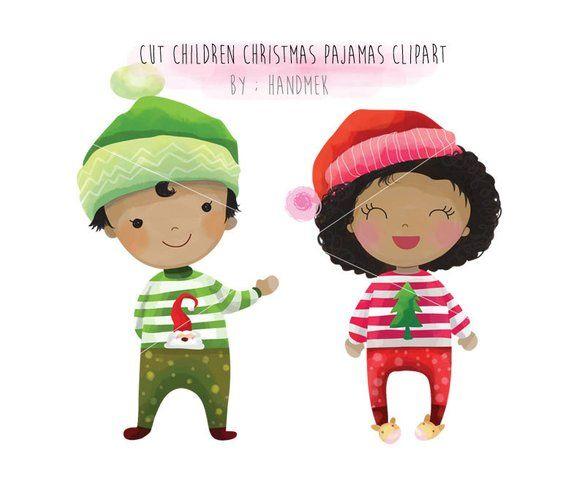 Christmas pajamas, Cute Christmas, Christmas children.
