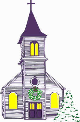 Clipart Church Christmas.