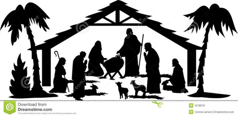 Manger Shadow Images Clipart.