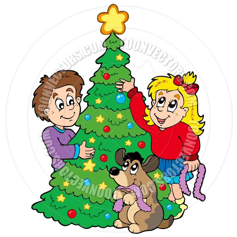 Showing post & media for Cartoon christmas tree decorating.