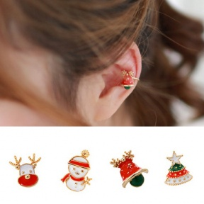 Heart Shaped Christmas Earrings For Pierced Ears. From Sensational.