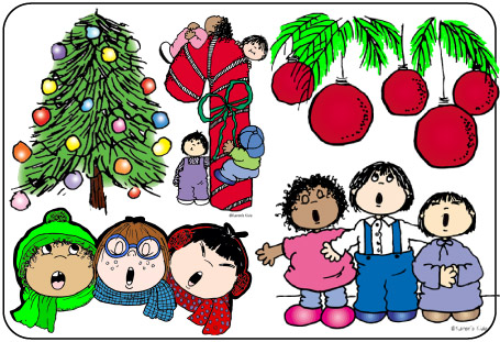 Christmas eve children clipart.