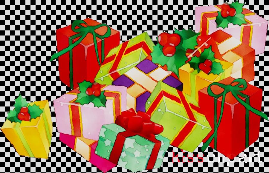 Christmas Gift Cartoon clipart.