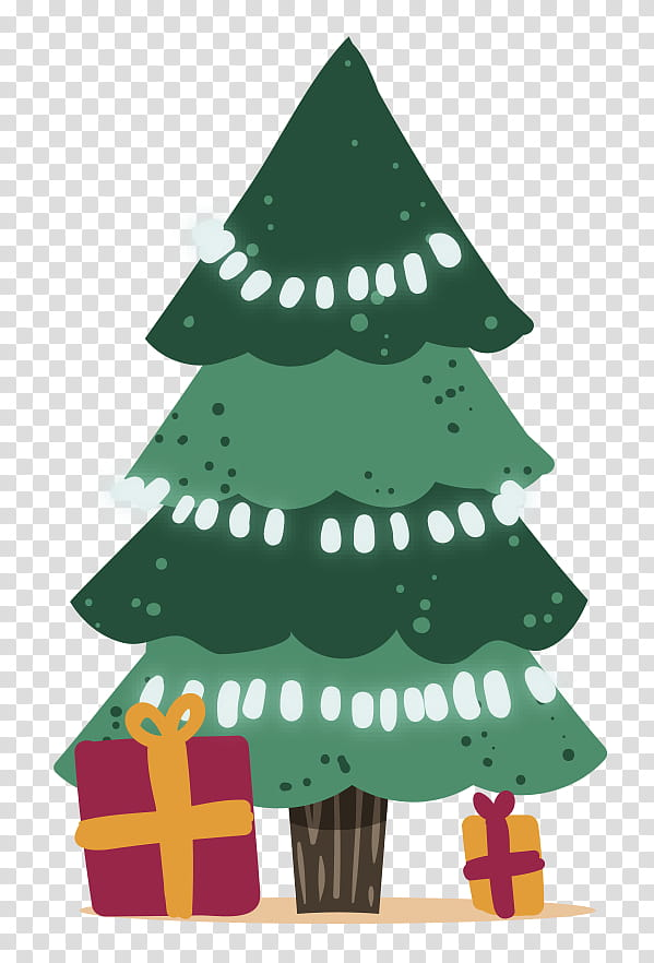 Christmas Graphics, green Christmas tree transparent.
