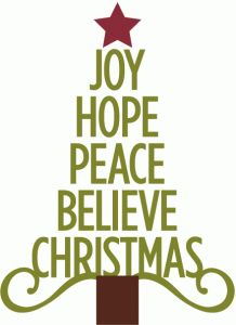 Clipart Christmas Hope Peace.