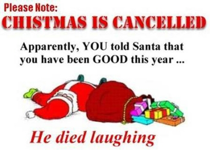 Humorous christmas clip art.