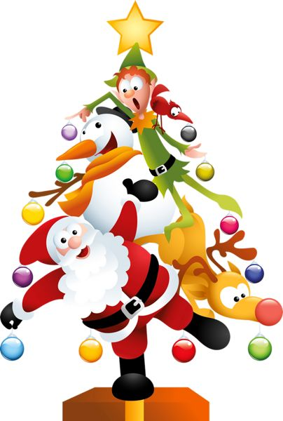 Funny clipart christmas tree.