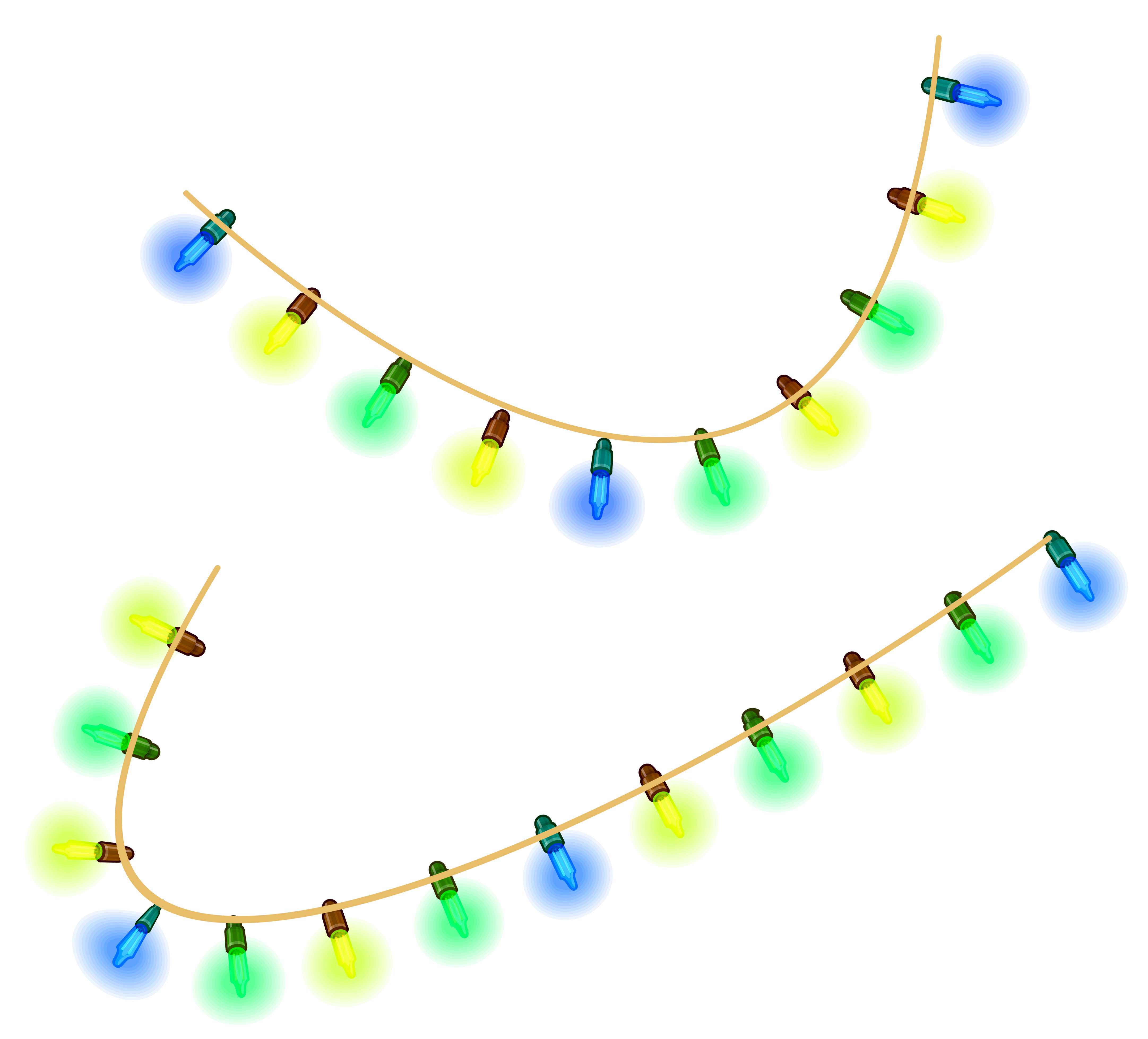 Transparent Christmas Lights PNG Clipart Picture.