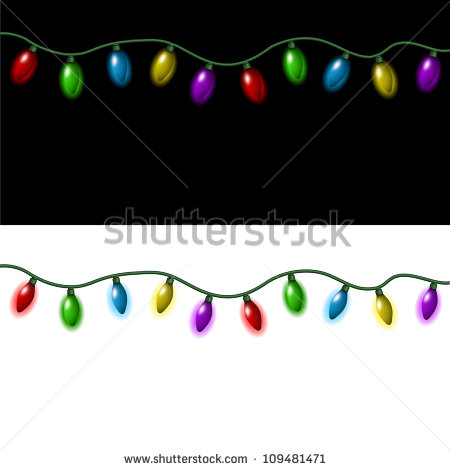 Christmas Lights Stock Images, Royalty.