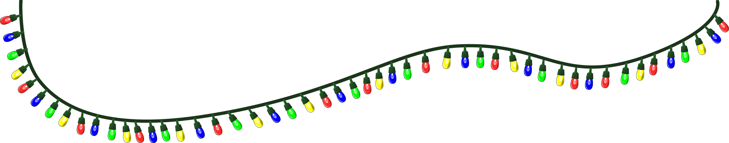 Christmas Lights Free Dividers Clipart Bars And Lines Png.