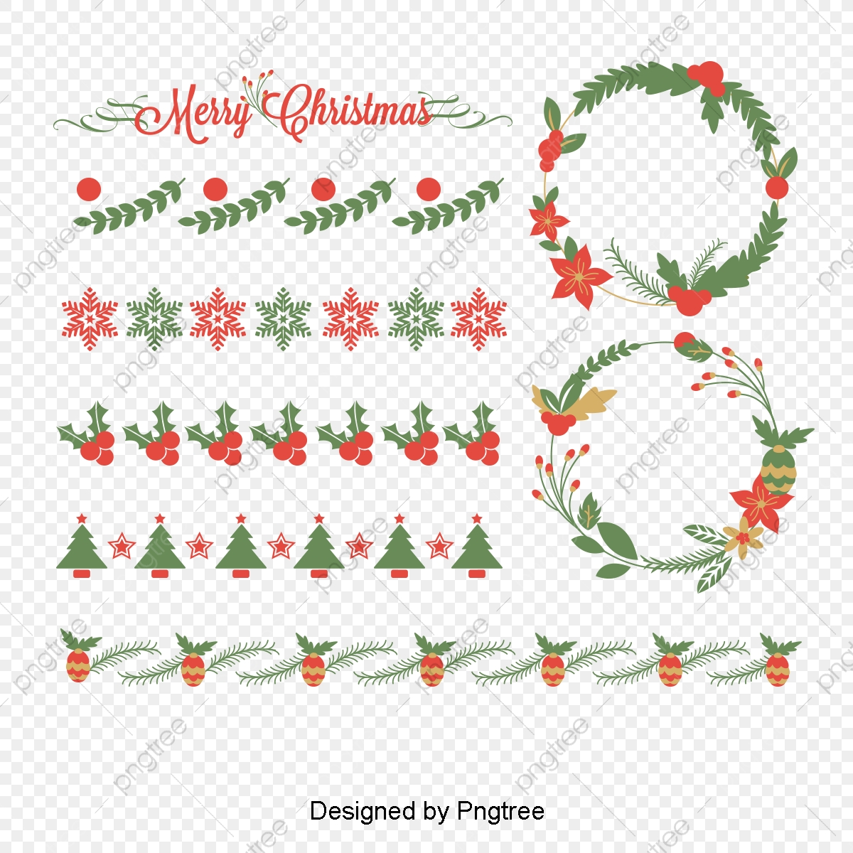 Christmas Pattern Border Dividing Lines, Dividing Line, Pattern.