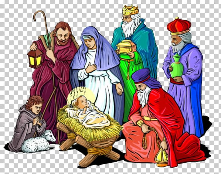 Holy Family Nativity Of Jesus Christmas Nativity Scene PNG.