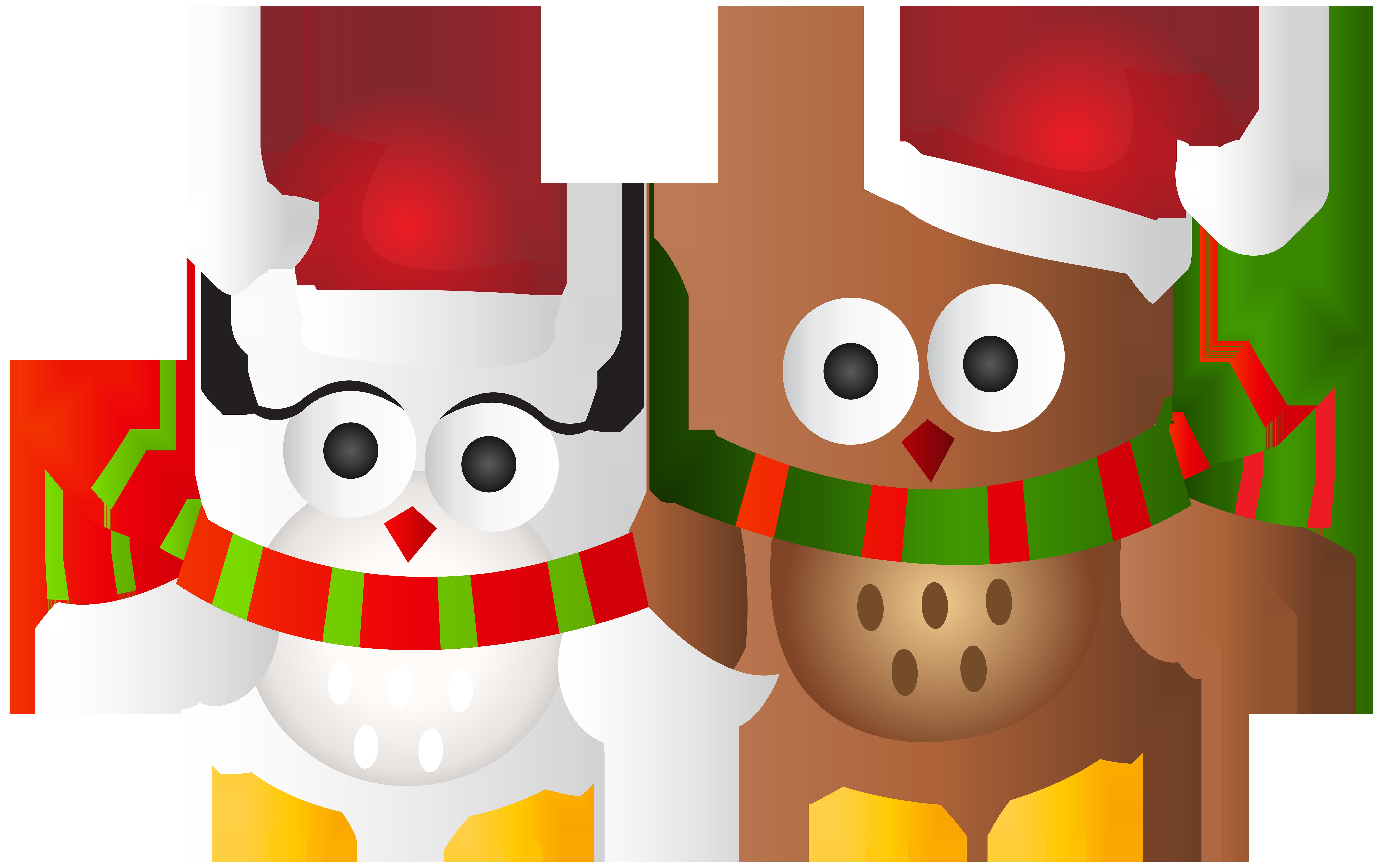 Christmas Owls Transparent Clip Art Image.