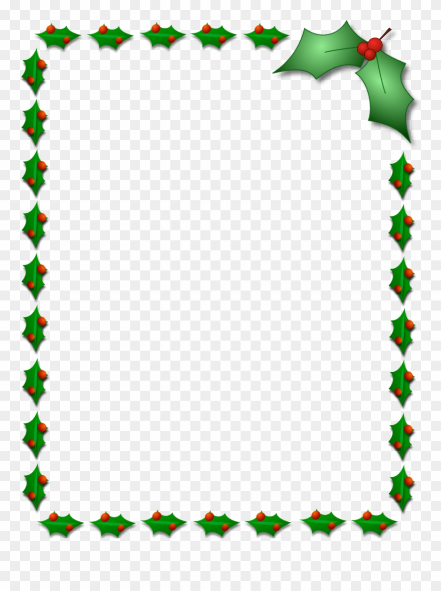 Free Download Christmas Holly Border Clipart Borders.