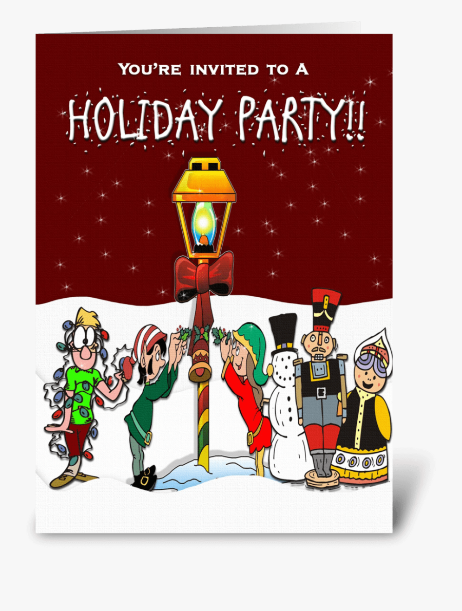 Holiday Party Invitation Greeting Card.